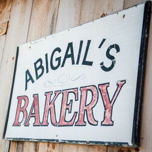 Abigail's Bakery sign