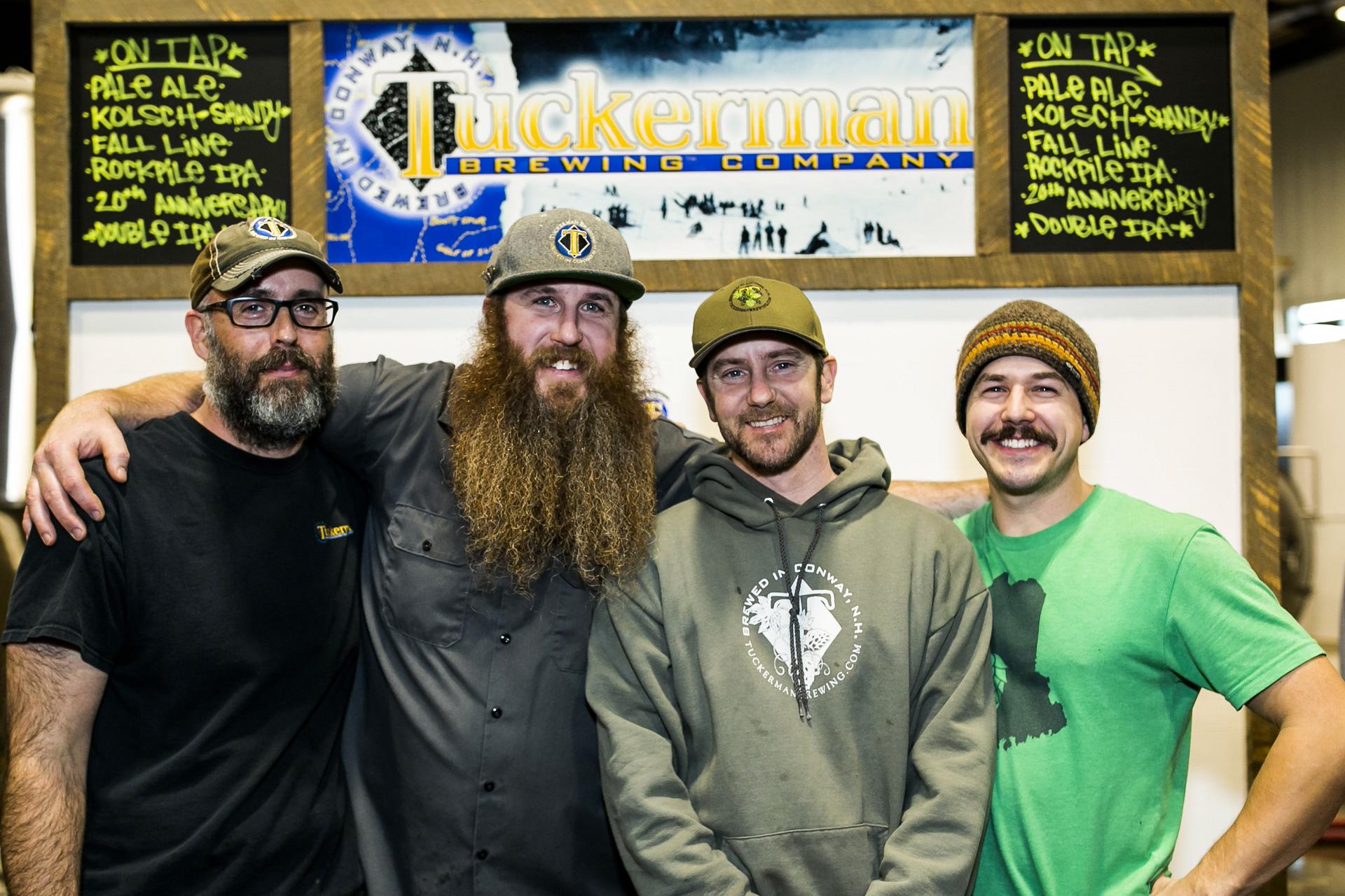 Four young guys at the bar at Tuckerman