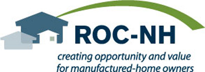 ROH-NH logo with tagline saying creating opportunity and value for manufactured-home owners