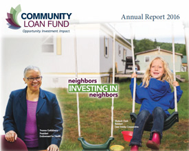Cover of the New Hampshire Community Loan Fund's 2016 annual report