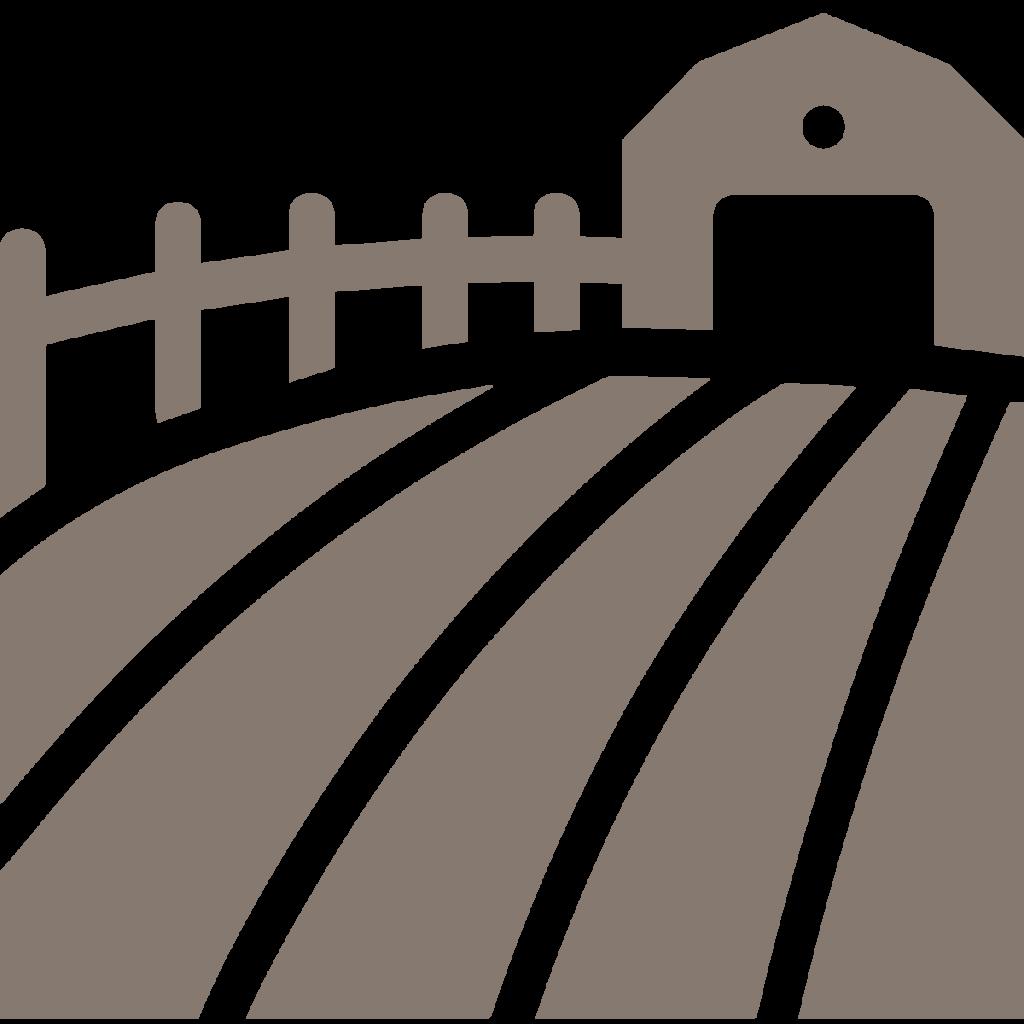 farm icon warm gray