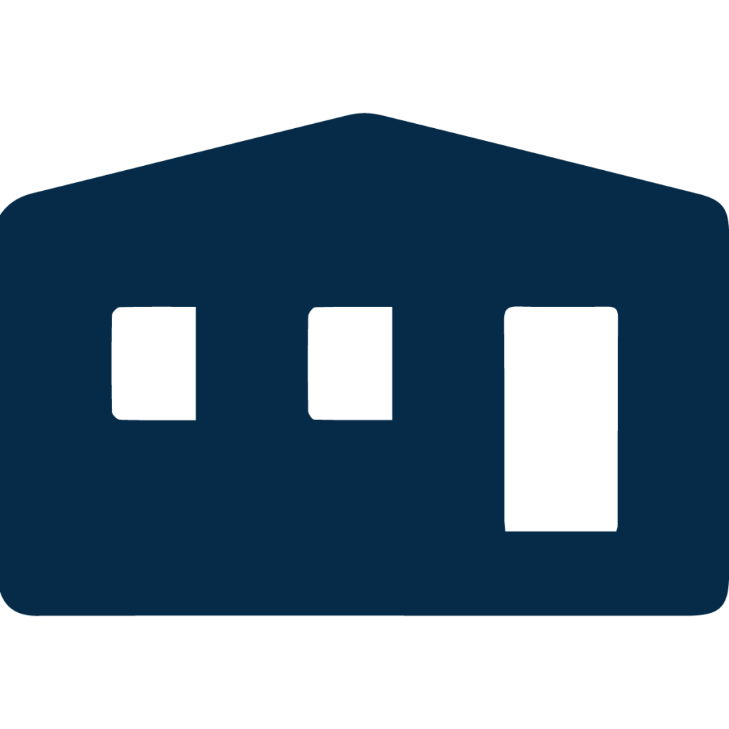 manufactured home icon blue