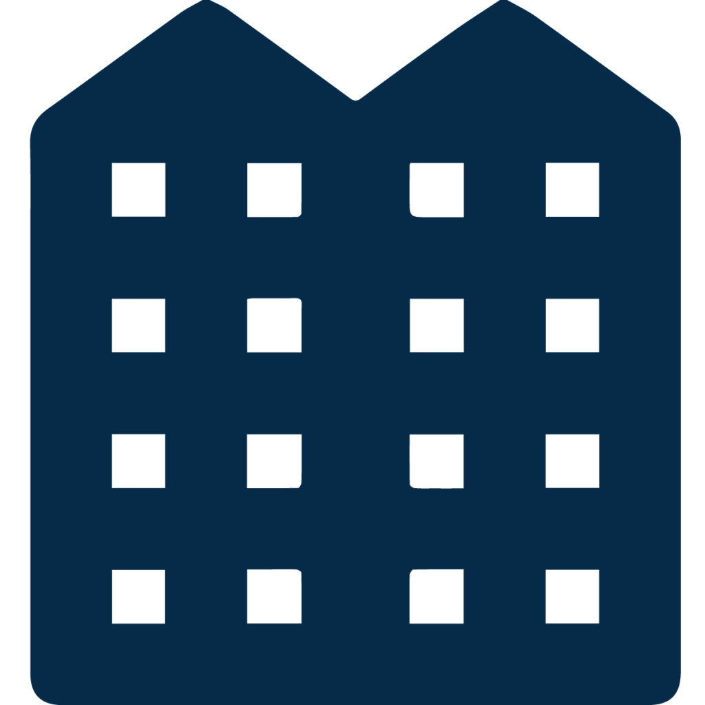 multifamily housing icon blue