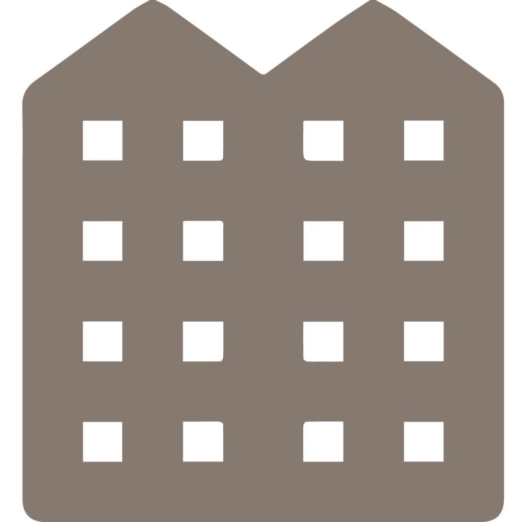 multi family housing icon warm gray