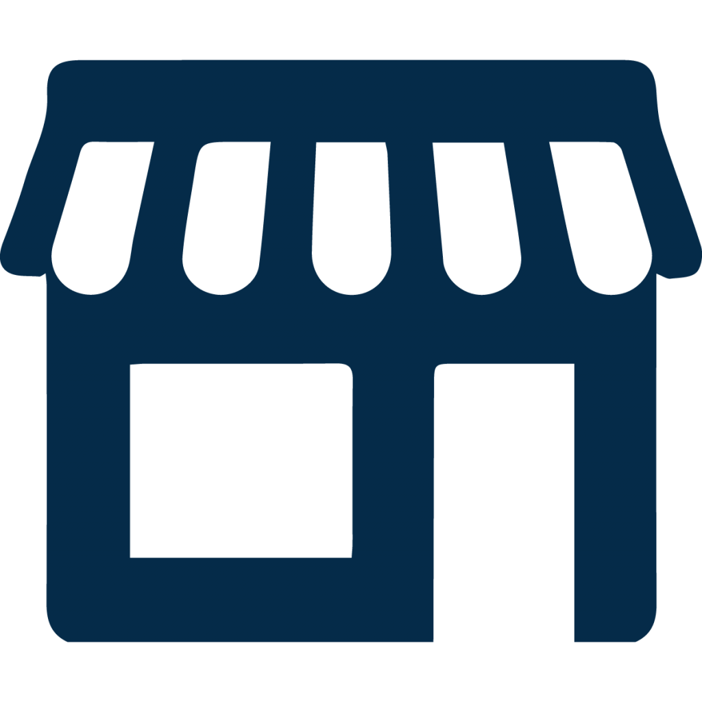 retail business icon blue