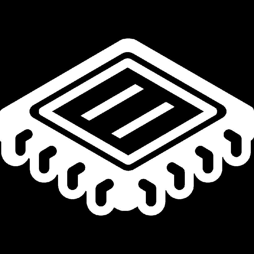 tech business icon white