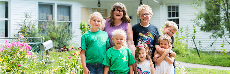 teacher and kids group shot