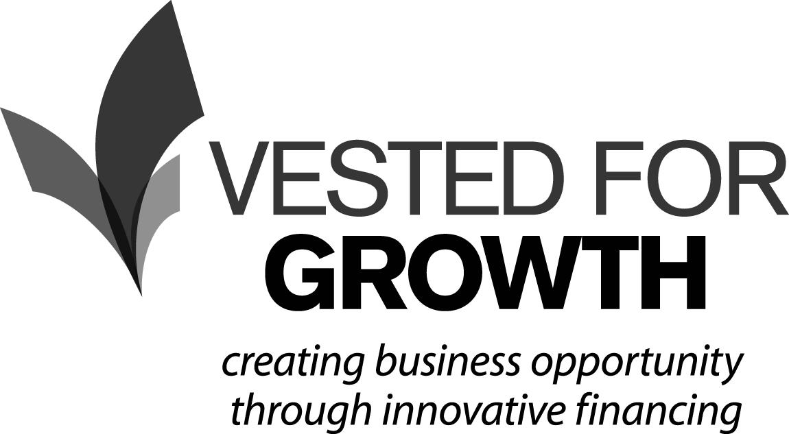 Vested for Growth Black Logo
