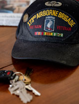 Vientman veterans cap and house keys