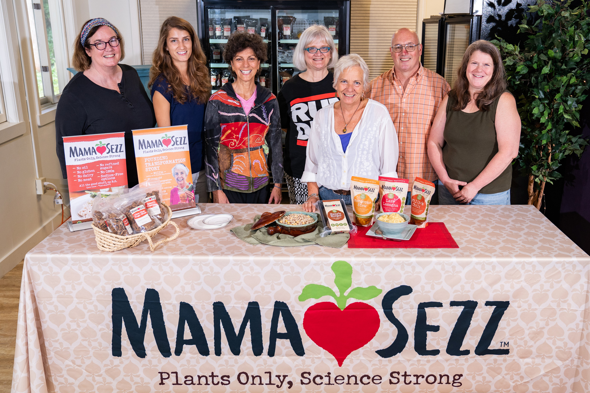 Employees of MamaSezz, a whole-food, plants-based food service in Keene and Brattleboro.