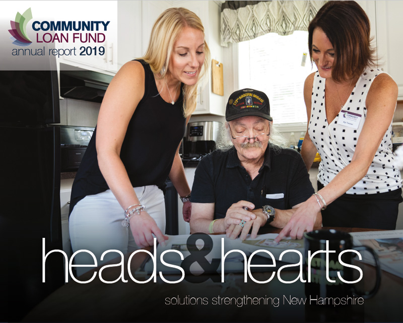 Cover of the New Hampshire Community Loan Fund's 2019 annual report