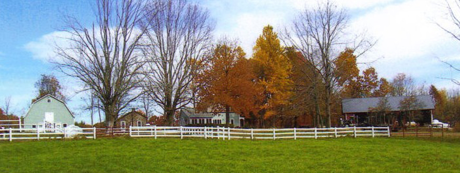 A scenic view of Manning Hill Farm in late autumn