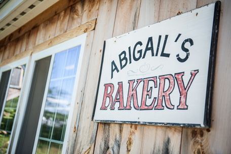 Sign outside Abigail's Bakery