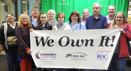 Members of Freedom Pond Cooperative celebrate becoming a resident-owned community.