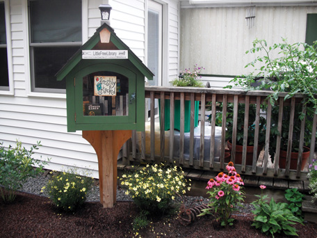 A littrle free library at Rural Bend Cooperative.