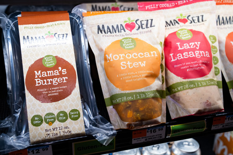 mamaSezz products on the market shelf