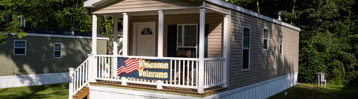 One of the 10 custom-built homes for veterans in Rock Rimmon Cooperative in Danville, NH.