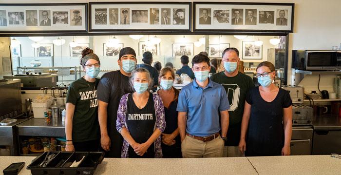 Lou's Restaurant owner Jarett Berke and his team.