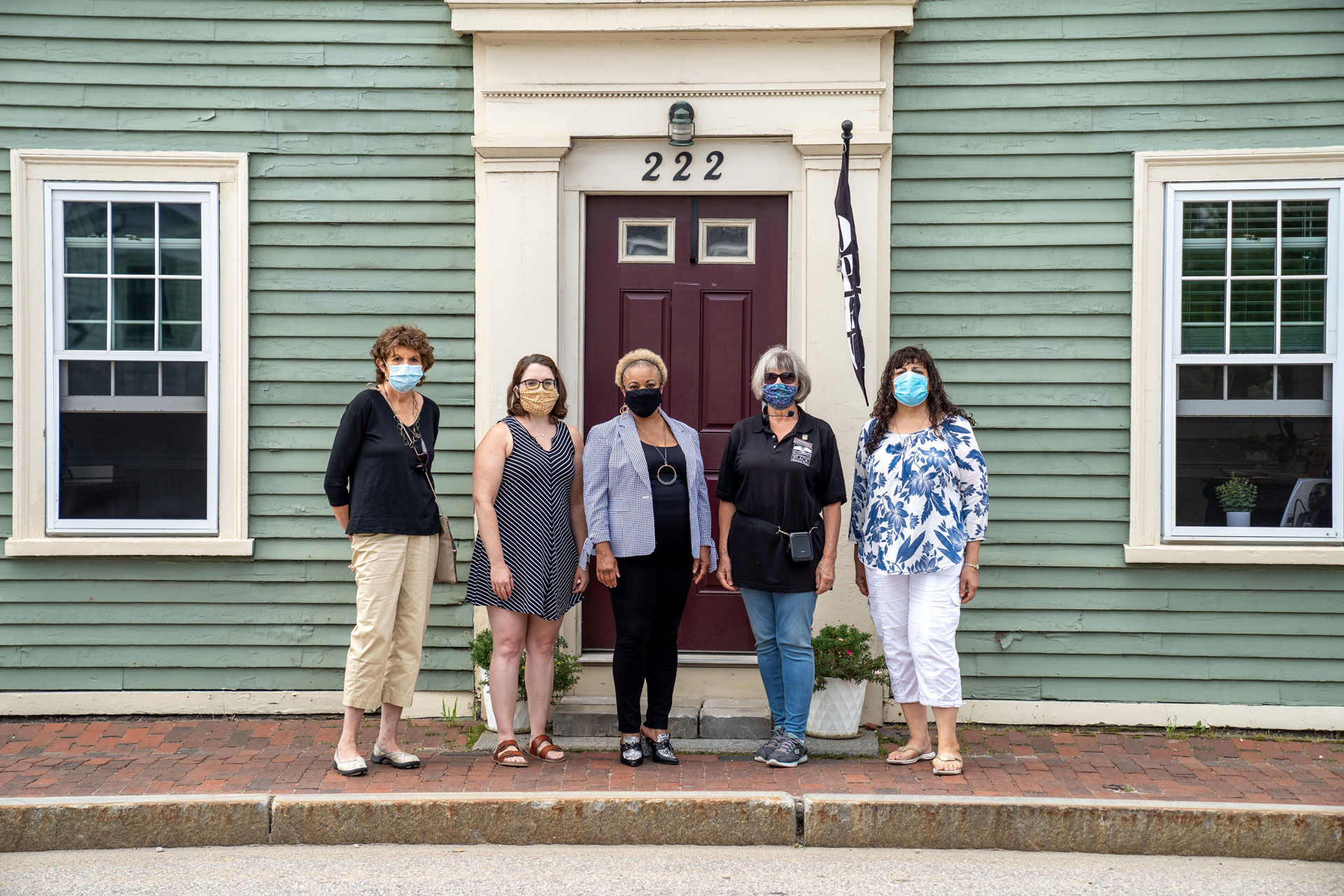 Black Heritage Trail of NH staff and volunteers in front of their headquarters.