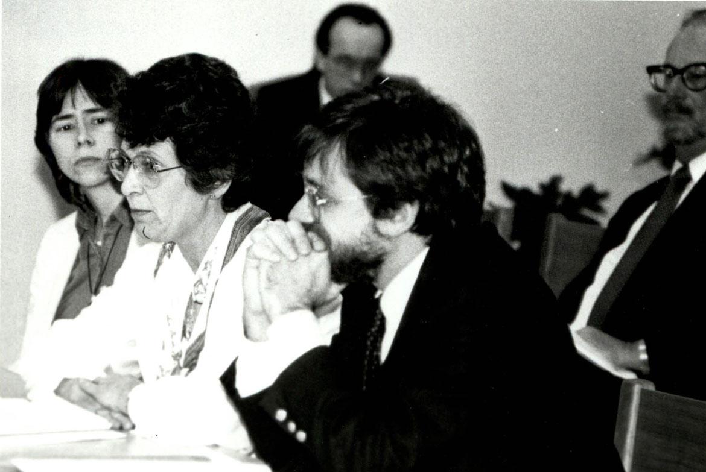 Juliana Eades, Florence Quast and Elliott Berry testify at a hearing.
