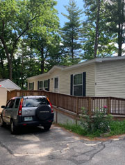An attractive home in Jewel Estates Cooperative, New Hampshire's 133rd resident-owned community.
