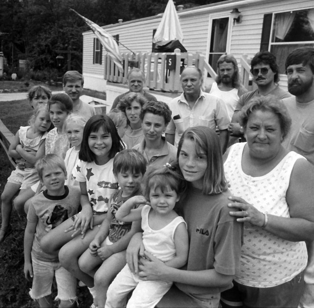 Some of the families in Meredith Center Cooperative.