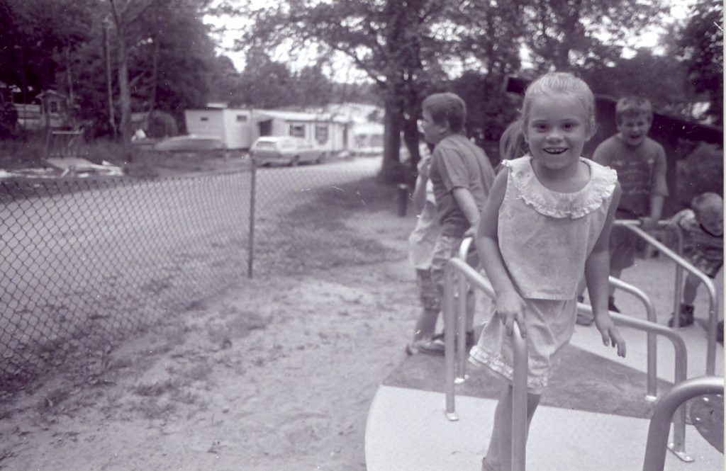 Meredith Center Cooperative was a family park, with a playground for the young children.